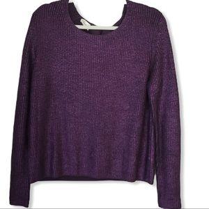 Rene Lezard Metallic Sweater with Back Buckle S